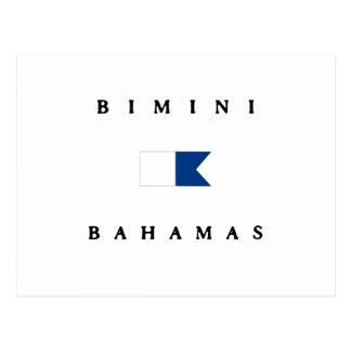 Bimini Bahamas Alpha Dive Flag Postcard