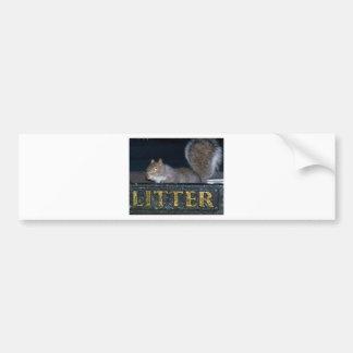 Bin-raid! Cheeky squirrel Bumper Sticker