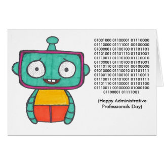 Binary Administrative Professionals Day Card