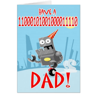 Binary Birthday Dad and Fathers Day card