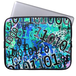 Binary Code - Blue Laptop Sleeve