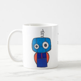 Binary code coffee mug with Robot