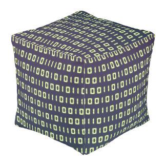 Binary Code Cube Bean Bags Pouf