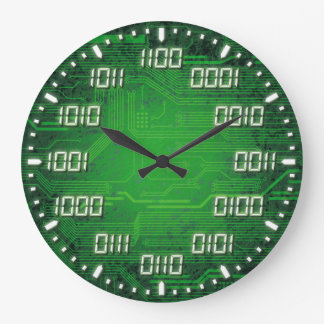 Binary Code Decorative Wall Clock
