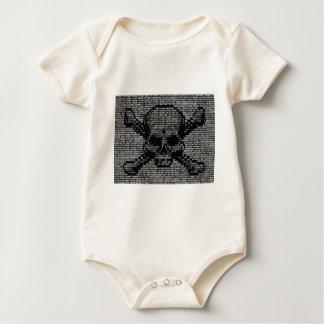 Binary Code Skull and Crossbones Baby Bodysuit