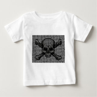 Binary Code Skull and Crossbones Baby T-Shirt