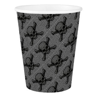 Binary Code Skull and Crossbones Paper Cup