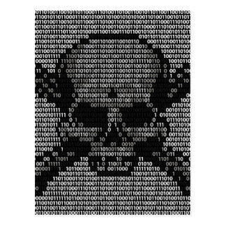 Binary Code Skull and Crossbones Postcard