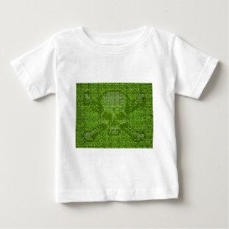 Binary Code Skull and Crossedbones Baby T-Shirt
