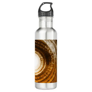 Binary Data Abstract Background for Digital 710 Ml Water Bottle