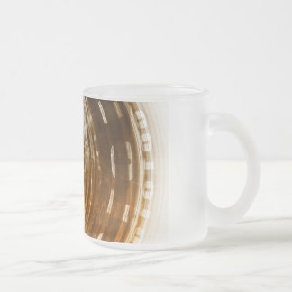 Binary Data Abstract Background for Digital Frosted Glass Coffee Mug