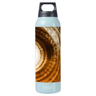 Binary Data Abstract Background for Digital Insulated Water Bottle