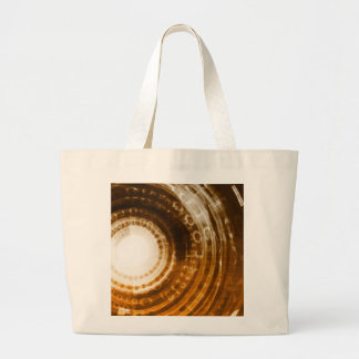 Binary Data Abstract Background for Digital Large Tote Bag