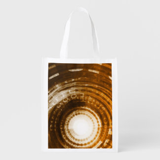 Binary Data Abstract Background for Digital Reusable Grocery Bag