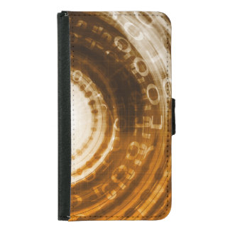 Binary Data Abstract Background for Digital Samsung Galaxy S5 Wallet Case