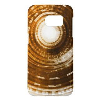 Binary Data Abstract Background for Digital Samsung Galaxy S7 Case