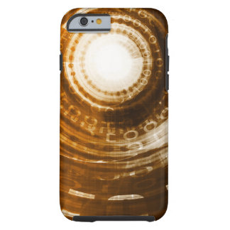 Binary Data Abstract Background for Digital Tough iPhone 6 Case
