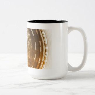 Binary Data Abstract Background for Digital Two-Tone Coffee Mug