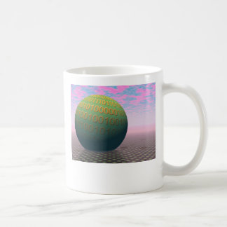 Binary Globe Coffee Mug