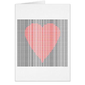 Binary Heart Card