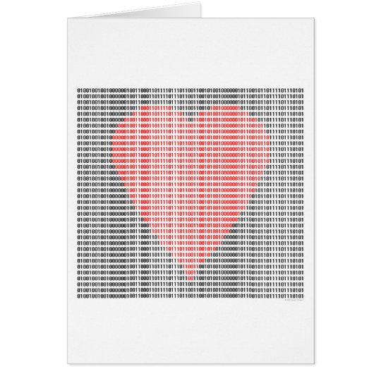 Binary Heart Card