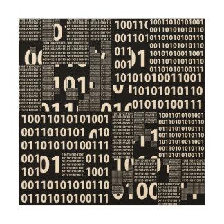 Binary in Black & White Wood Prints
