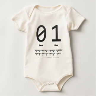 binary number system: computer: engineer baby bodysuit