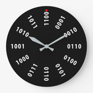 Binary Numerals Large Clock
