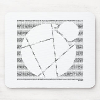Binary Reddcoin Mouse Pad