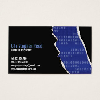 Binary Rip - Blue Business Card