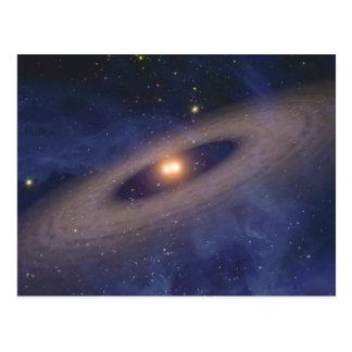 Binary Star Solar System Space Art Postcard