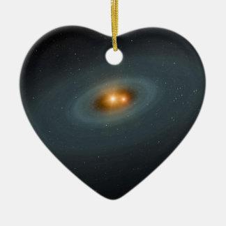 Binary Star Space Art Ceramic Ornament