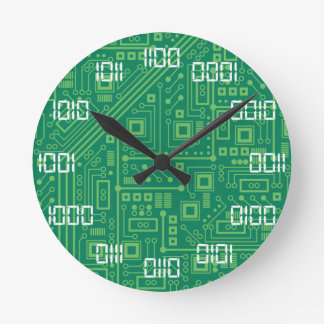 Binary Time Round Clock