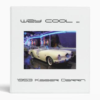 Binder 1953 Kaiser Darrin classic car  white blue