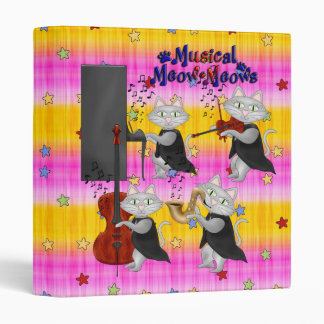 Binder Cute Cats Music Musical Cat Band