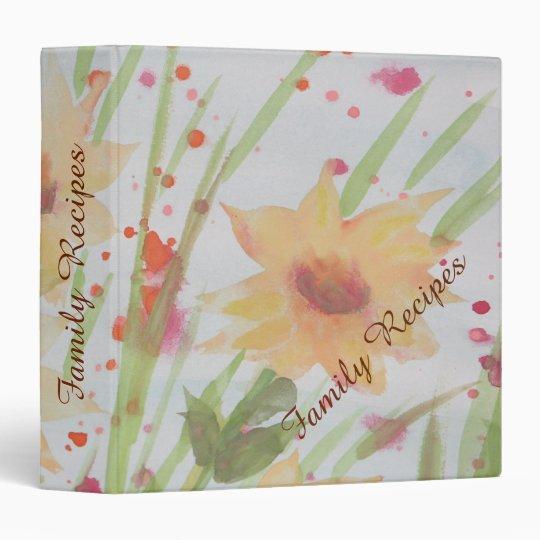 Binder - Floral watercolor design