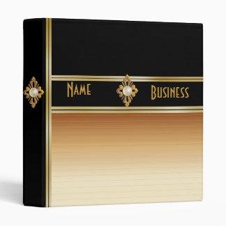Binder For Business Portfolio Black Coffee Gold