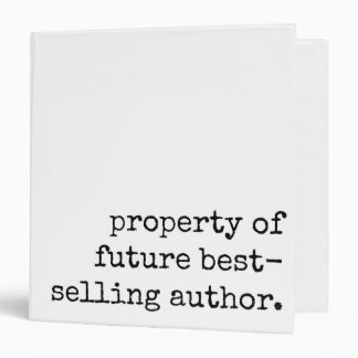 Binder for Writers, Authors, and Novelists