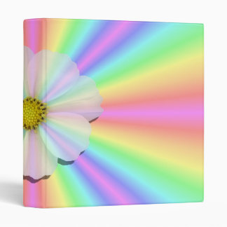 Binder - Groovy Radiant Rainbow With Flower Power