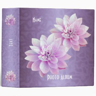 Binder Lotus Flowers Purple Photo Album
