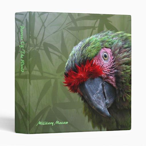 Binder: Military Macaw (Small)