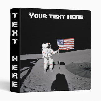 Binder: Moonwalk & American Flag 3 Ring Binders