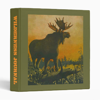 BINDER ~ MOOSE WADING REMOTE WILDERNESS JOURNAL