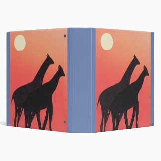 Binder or notebook with giraffe design