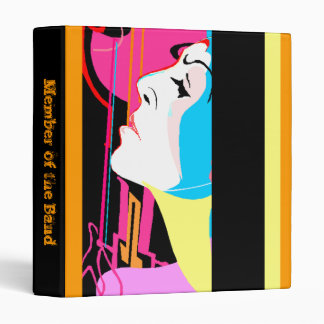 """BINDER ~ Pop Art Abstract """"Member of The Band"""""""