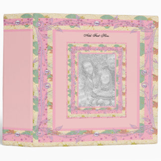 Binder Pretty Vintage Pink Floral Add Your Photo