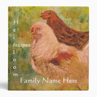 Binder - Recipes - Rooster/Chicken Art