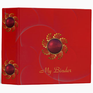 Binder Rich Padded Velvet Red Jewel