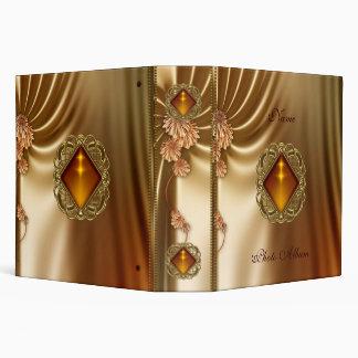 Binder Silk Amber Gold Jewel Photo Album