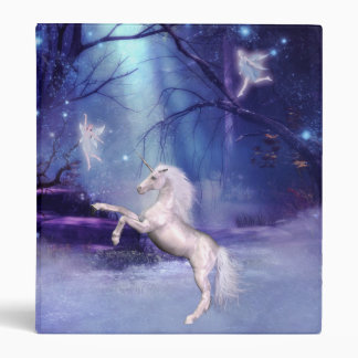 Binder-Unicorn Horse Angel Vinyl Binder